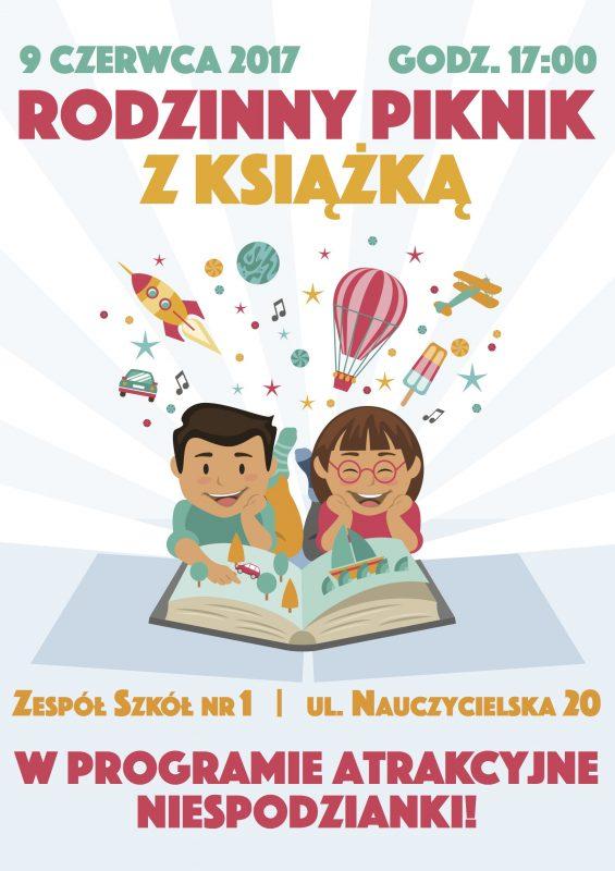 Plakat - Rodzinny piknik z książką