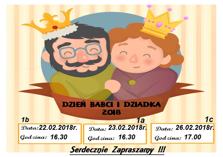 Zaproszenie Na Dzień Babci I Dziadka Szkoła Podstawowa Nr 20 W
